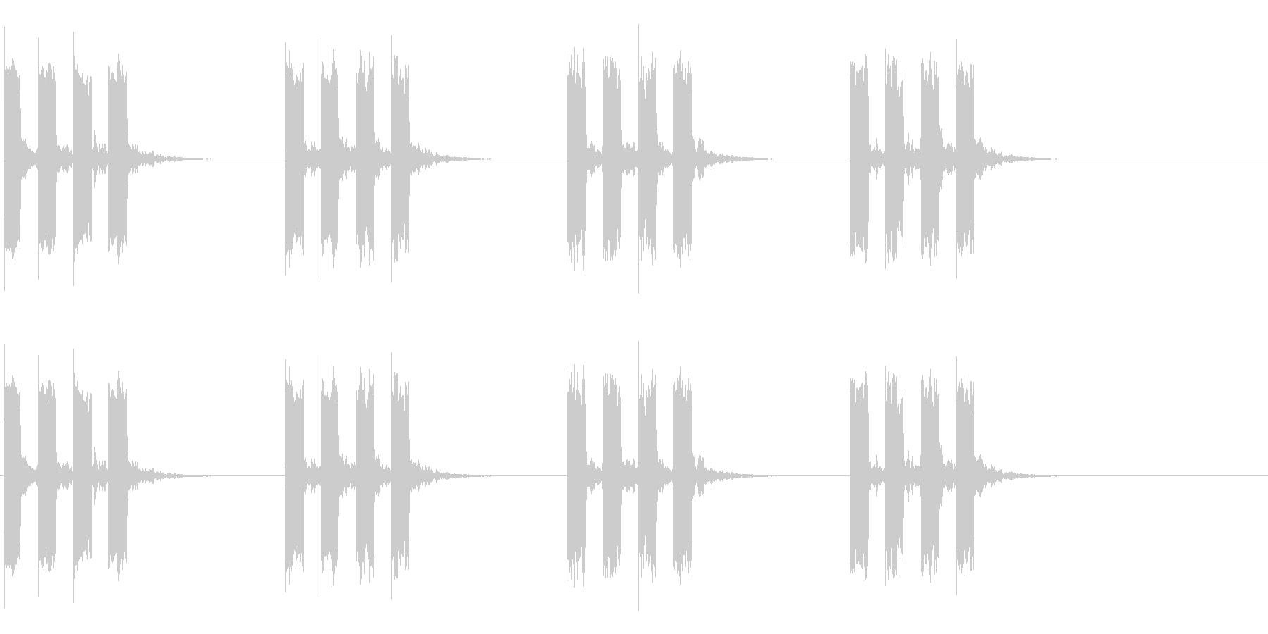 タイマー音02の未再生の波形