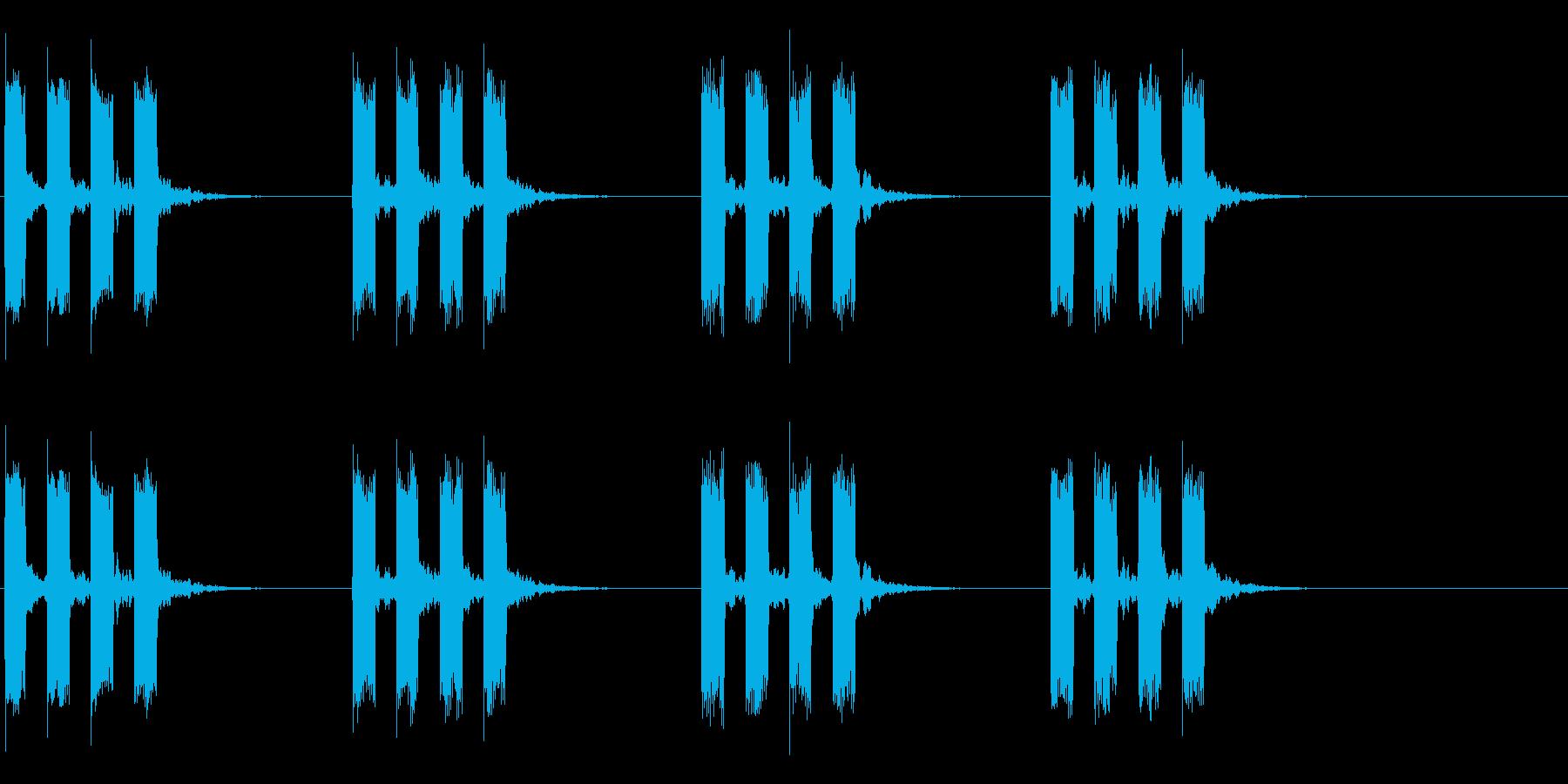 タイマー音02の再生済みの波形