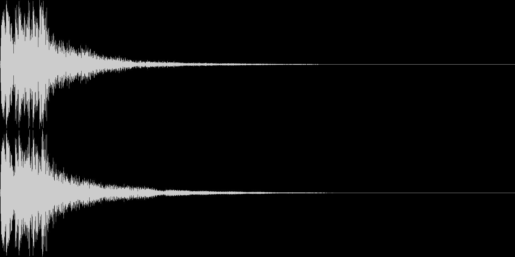 和風ボタン音、失敗音(三味線)の未再生の波形