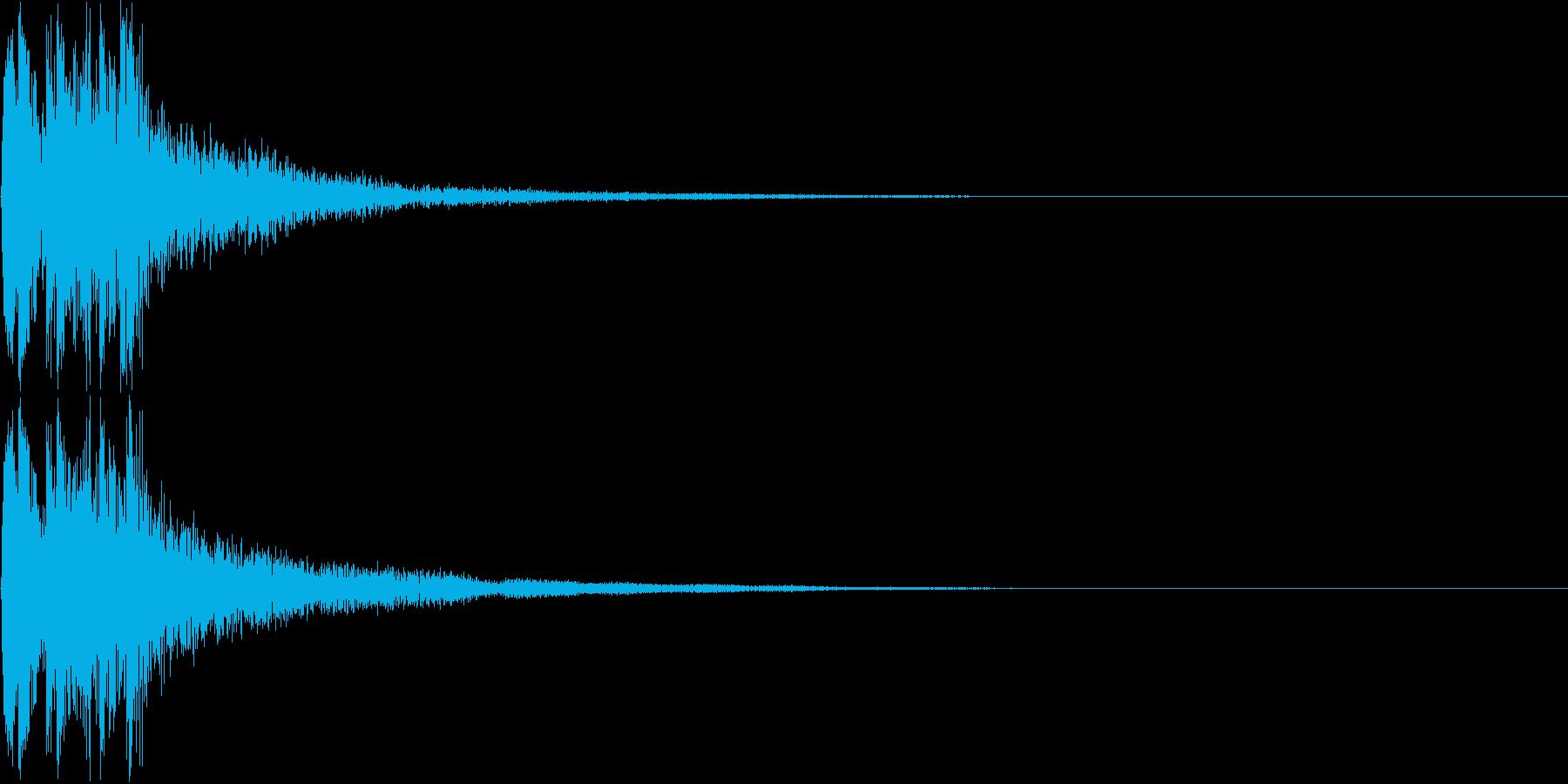 和風ボタン音、失敗音(三味線)の再生済みの波形
