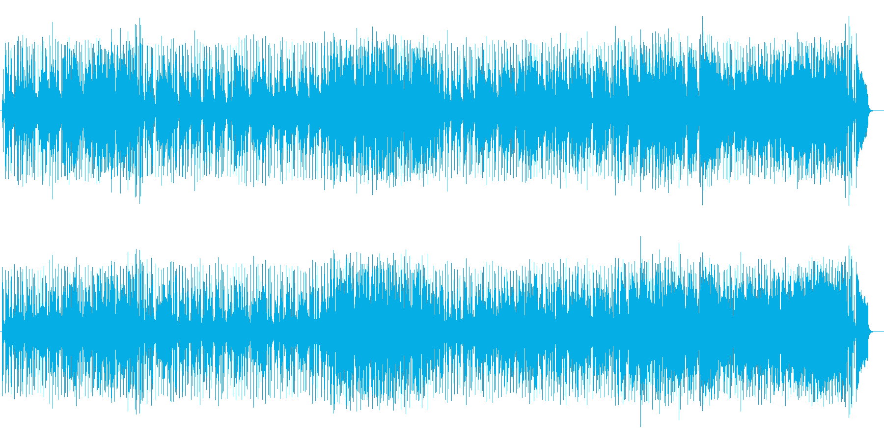 明るく爽やかなギターシンセサウンドの再生済みの波形
