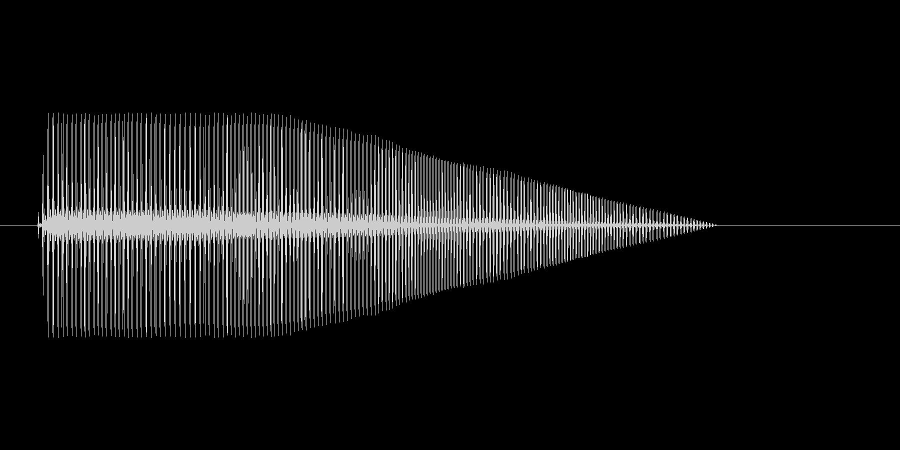 8bitのボヨヨヨンの未再生の波形