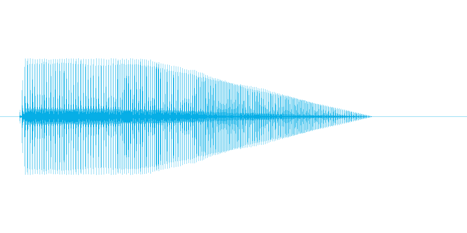 8bitのボヨヨヨンの再生済みの波形