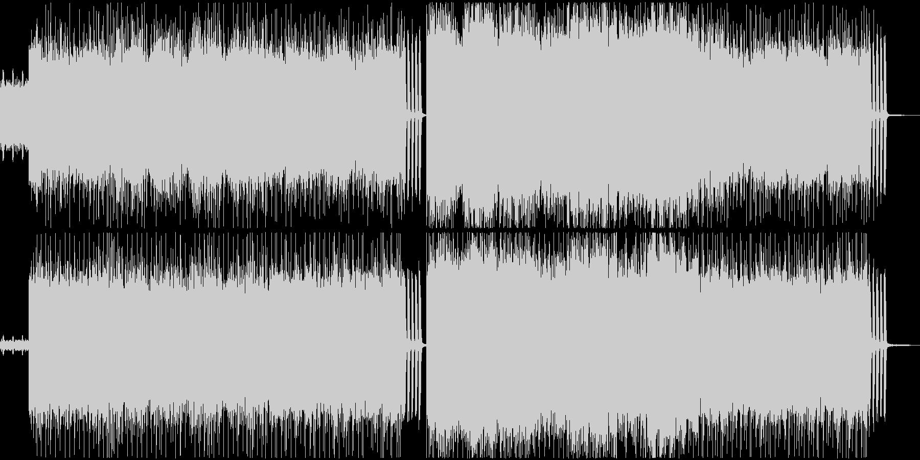 爆走型ロック・メタル系BGMの未再生の波形