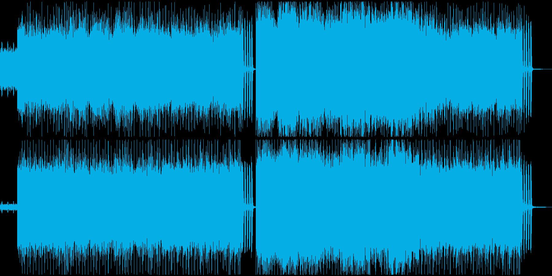 爆走型ロック・メタル系BGMの再生済みの波形