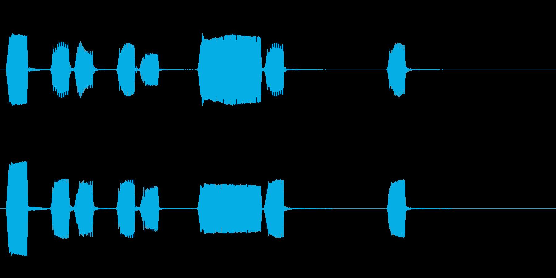 ジングル 鍵盤ハーモニカ 学校 ほのぼのの再生済みの波形