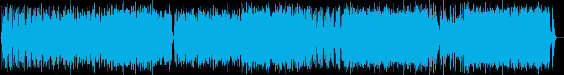 ミディアムテンポのロックの再生済みの波形