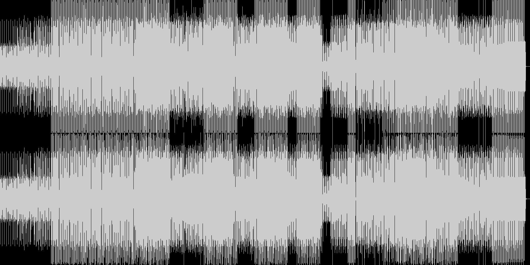 静かなミニマルハウスの未再生の波形