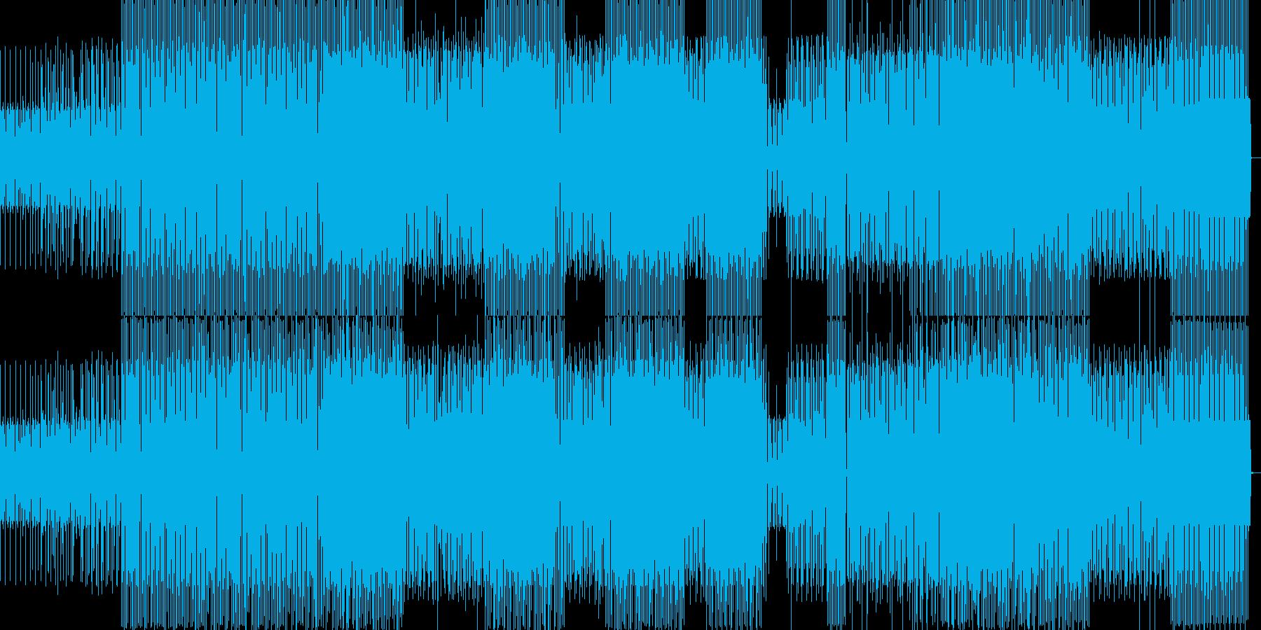 静かなミニマルハウスの再生済みの波形