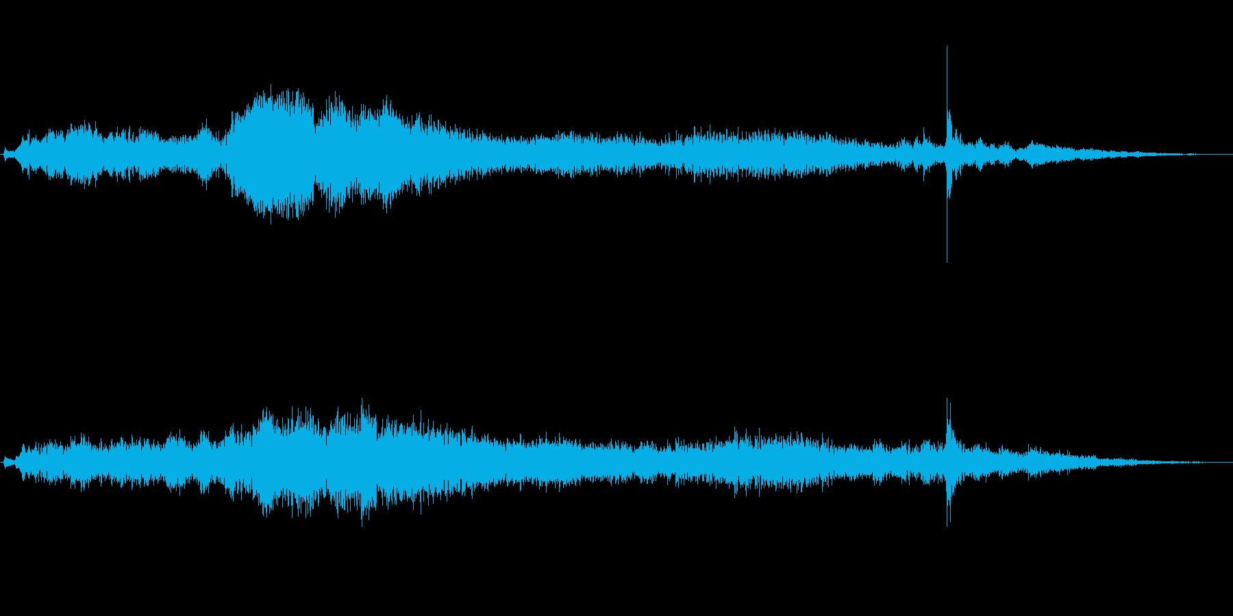 ドアの閉まる音風のアイキャッチ音の再生済みの波形
