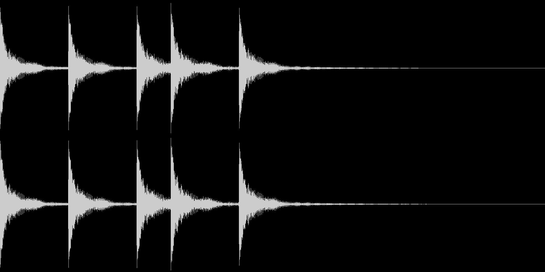 シンプルなジングルその5の未再生の波形