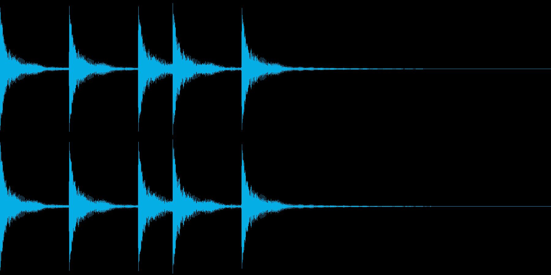 シンプルなジングルその5の再生済みの波形