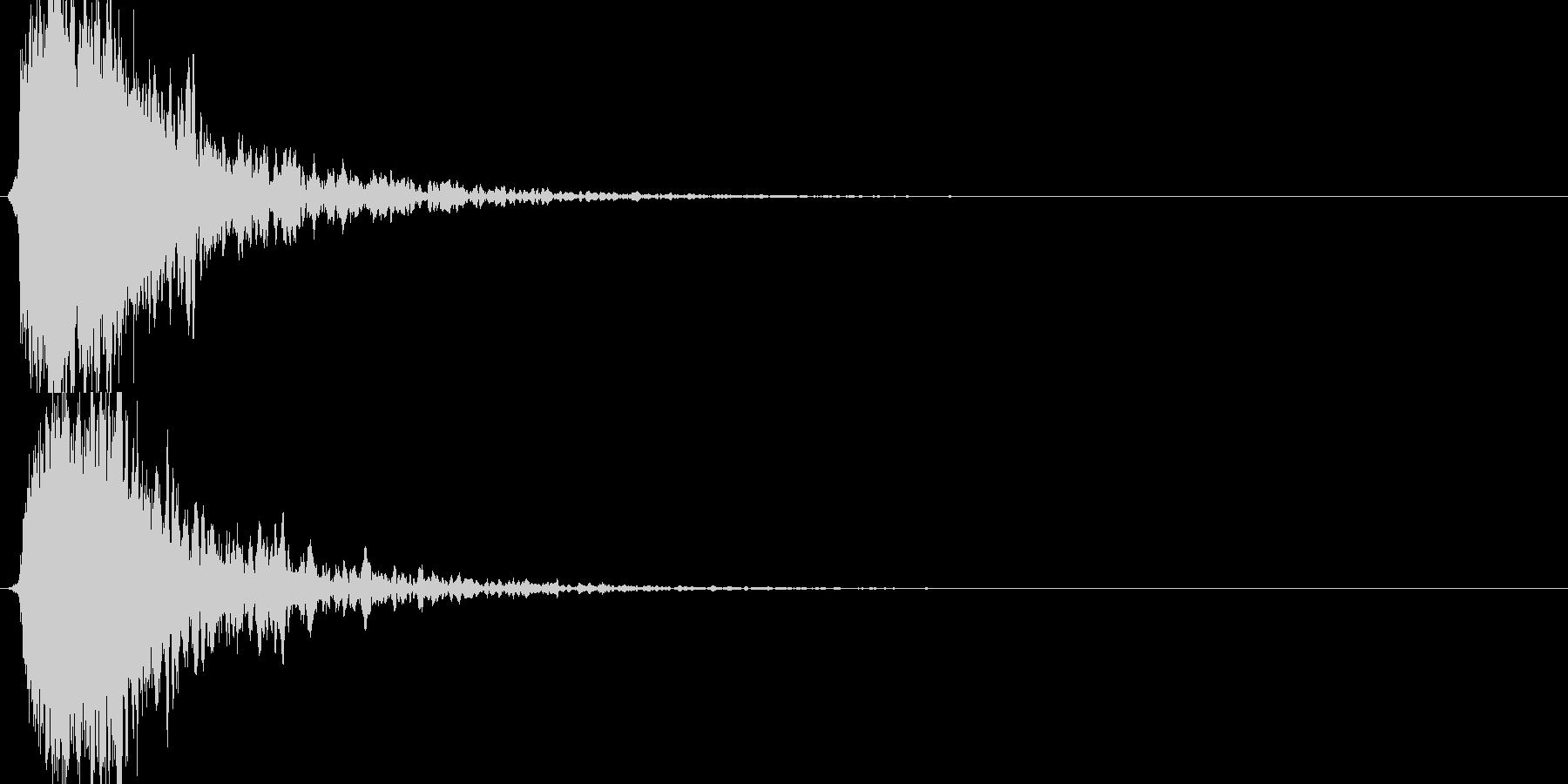 シャキーン!ド派手なインパクト効果音1Vの未再生の波形