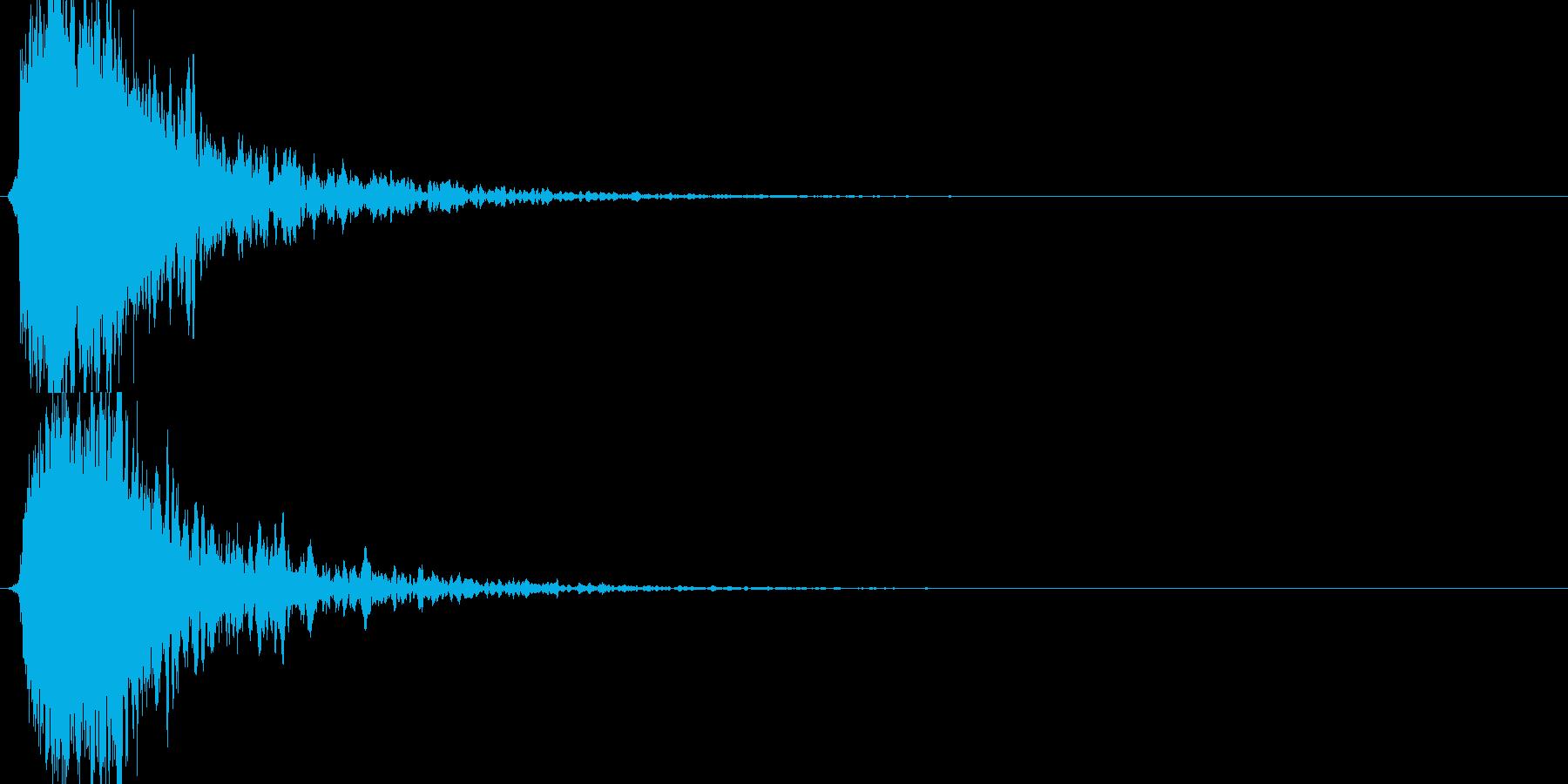シャキーン!ド派手なインパクト効果音1Vの再生済みの波形