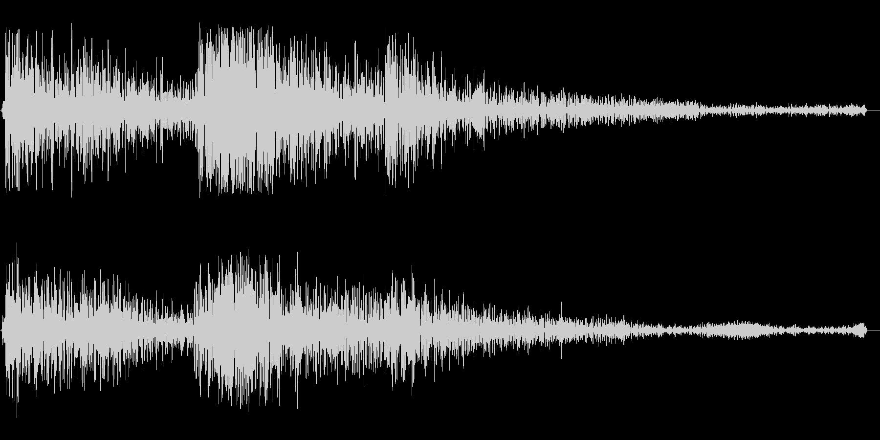 ゴ〜ン(門の音 重い音)の未再生の波形