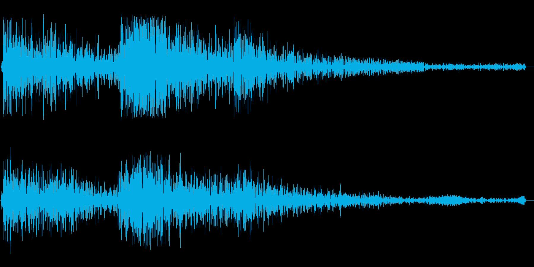 ゴ〜ン(門の音 重い音)の再生済みの波形