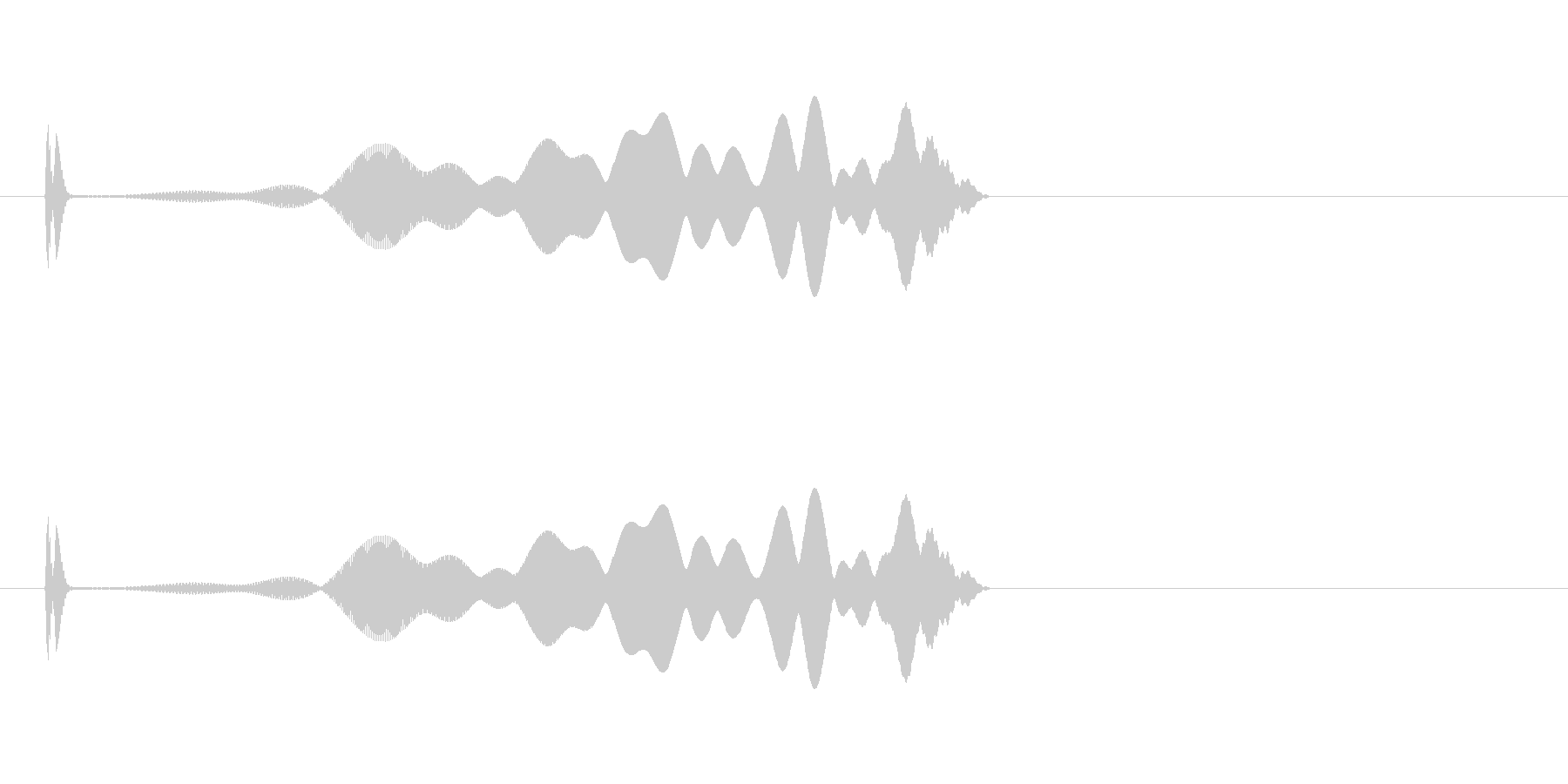 画面が収束していくタップモーションの未再生の波形