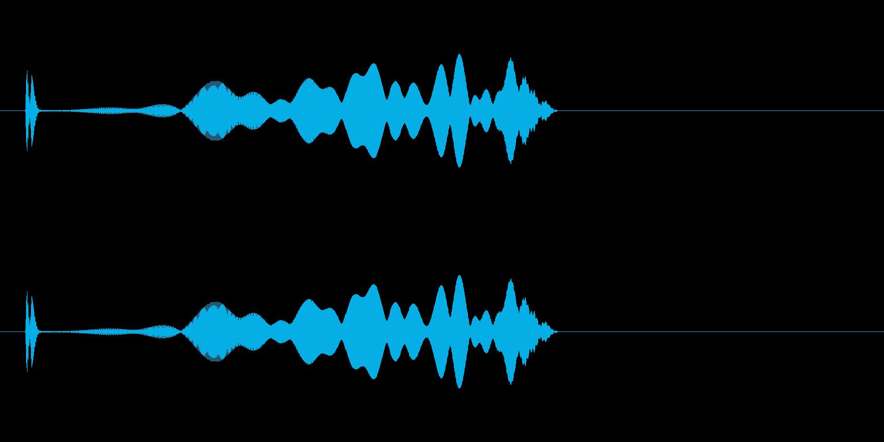 画面が収束していくタップモーションの再生済みの波形