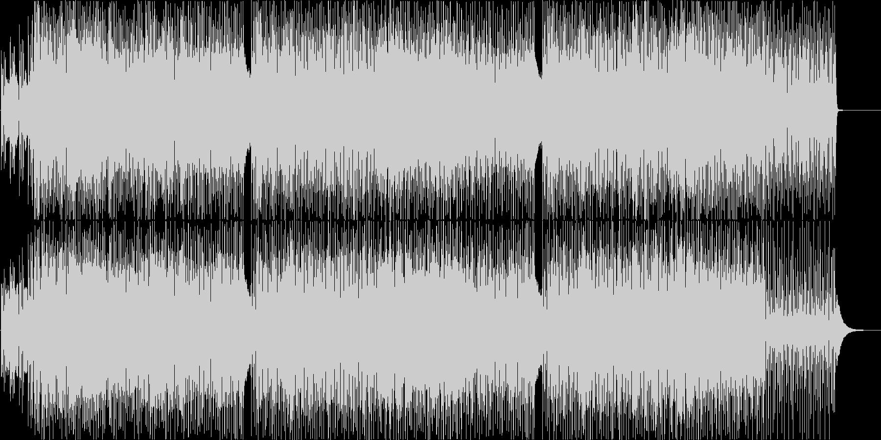 明るく楽しいハウス系ダンス曲の未再生の波形