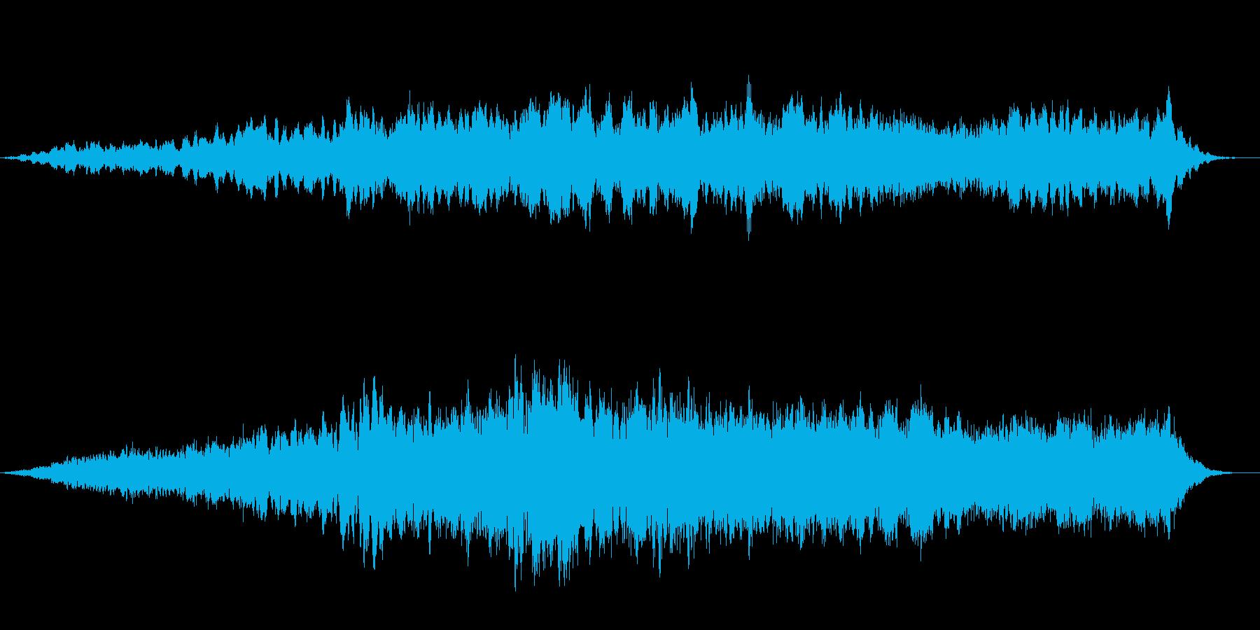 地底からのうめき声の怪しい神秘的な音風景の再生済みの波形