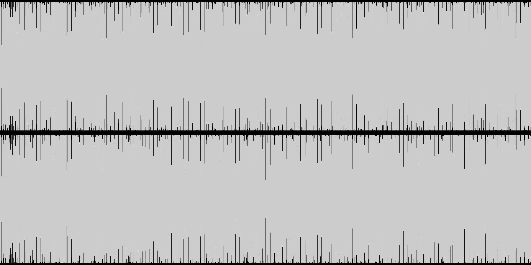 緊張感や幻想的な雰囲気を演出するBGMの未再生の波形