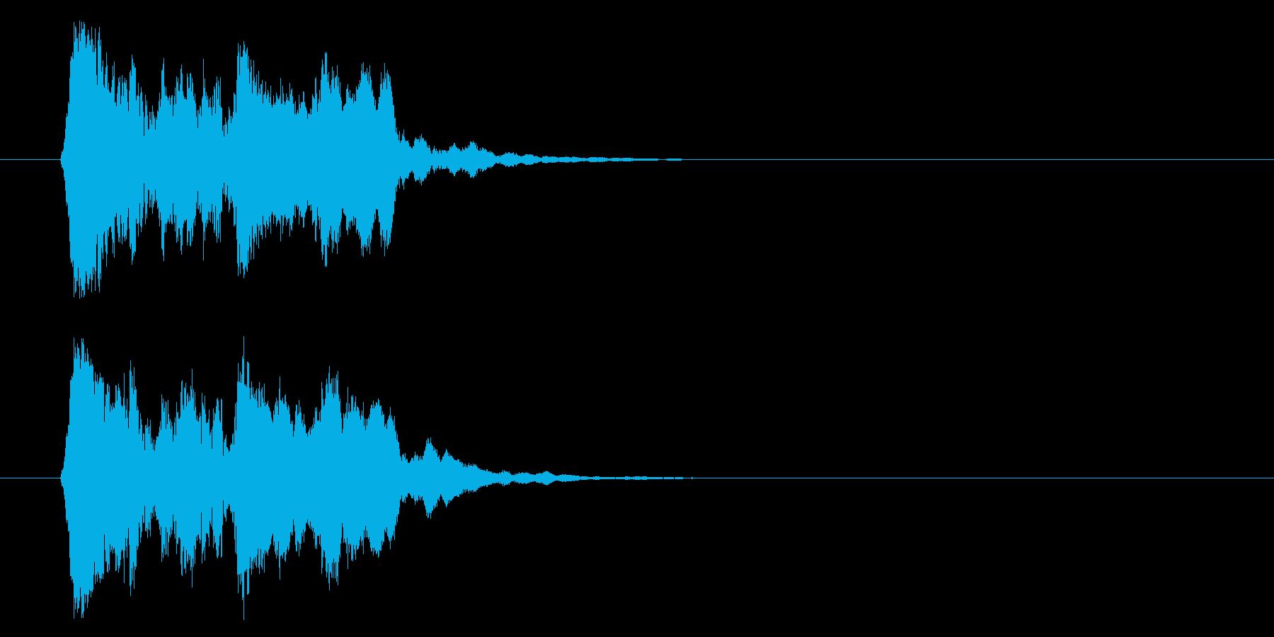 和の素材_お囃子1の再生済みの波形