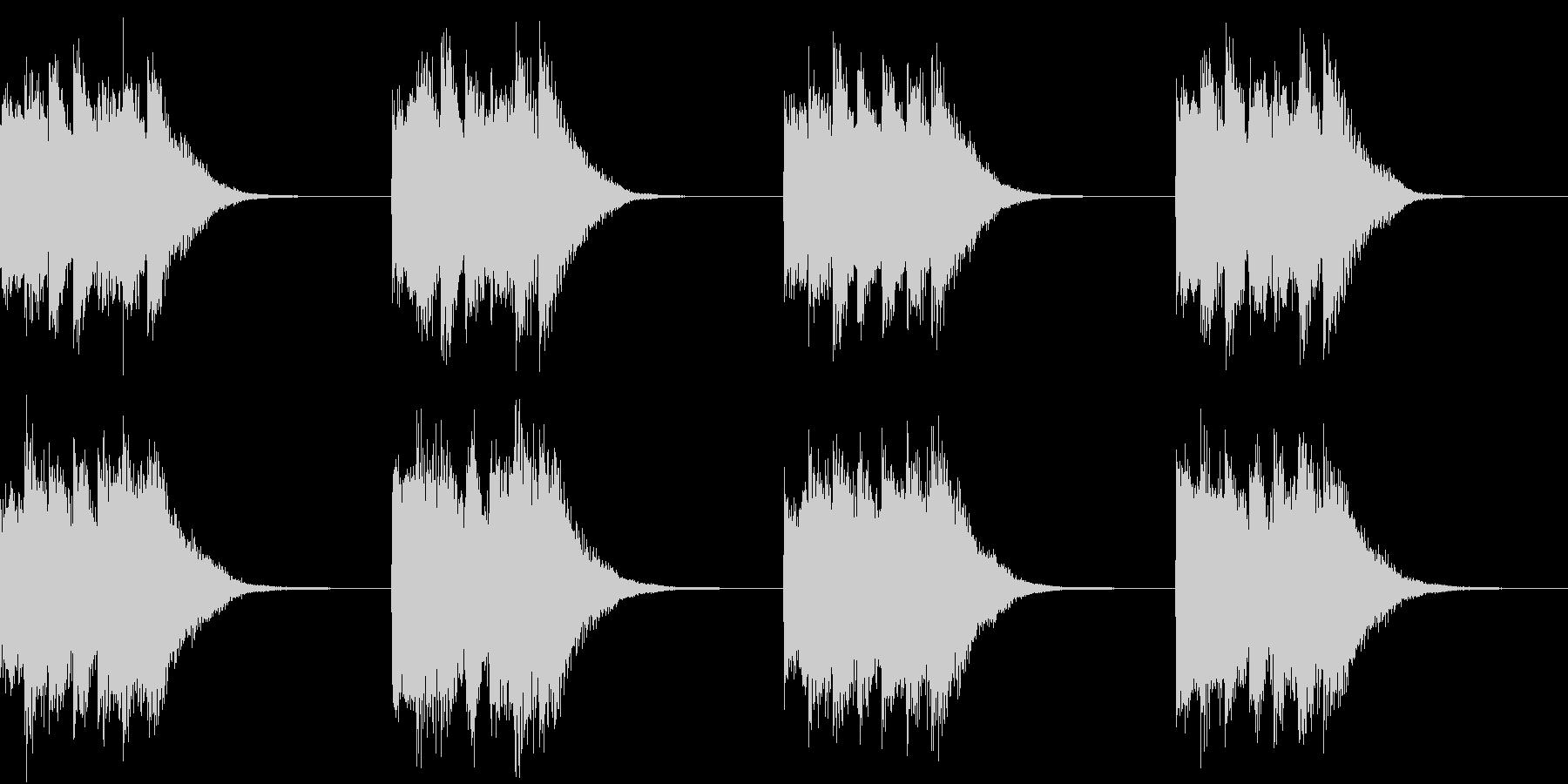 シンプル ベル 着信音 チャイム A-3の未再生の波形