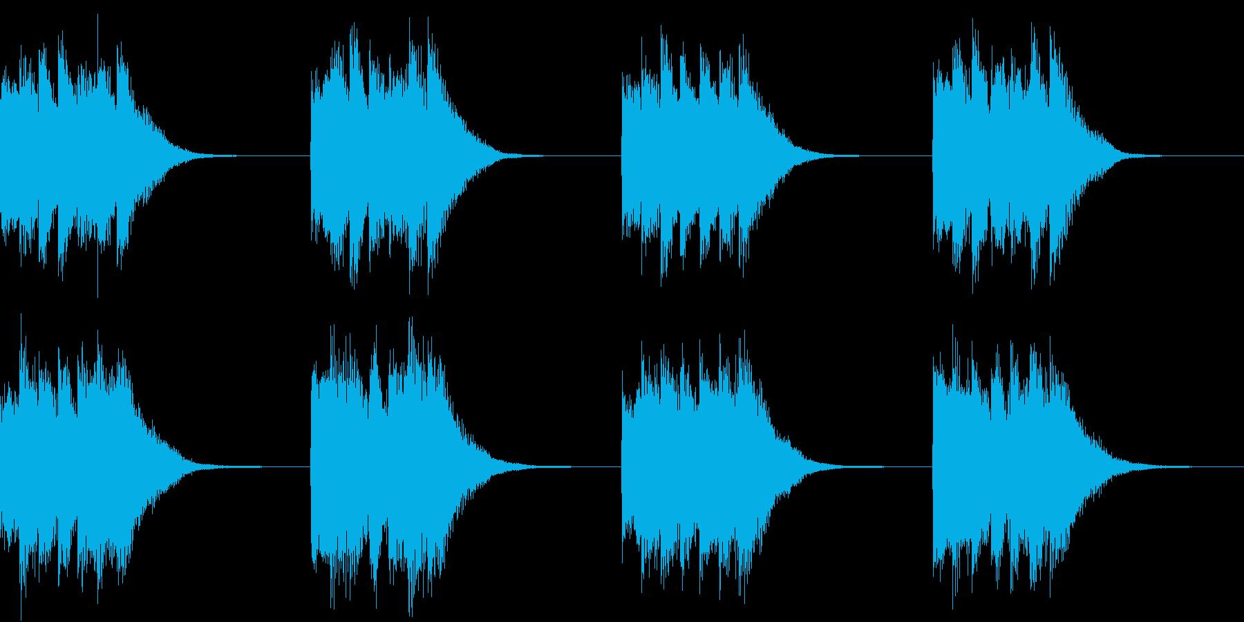シンプル ベル 着信音 チャイム A-3の再生済みの波形