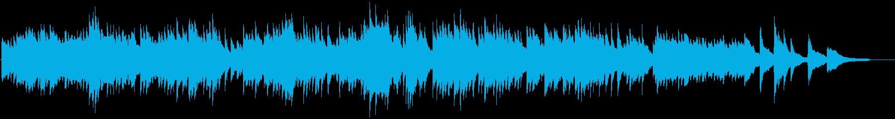 懐かしさを感じる温かいピアノ曲の再生済みの波形
