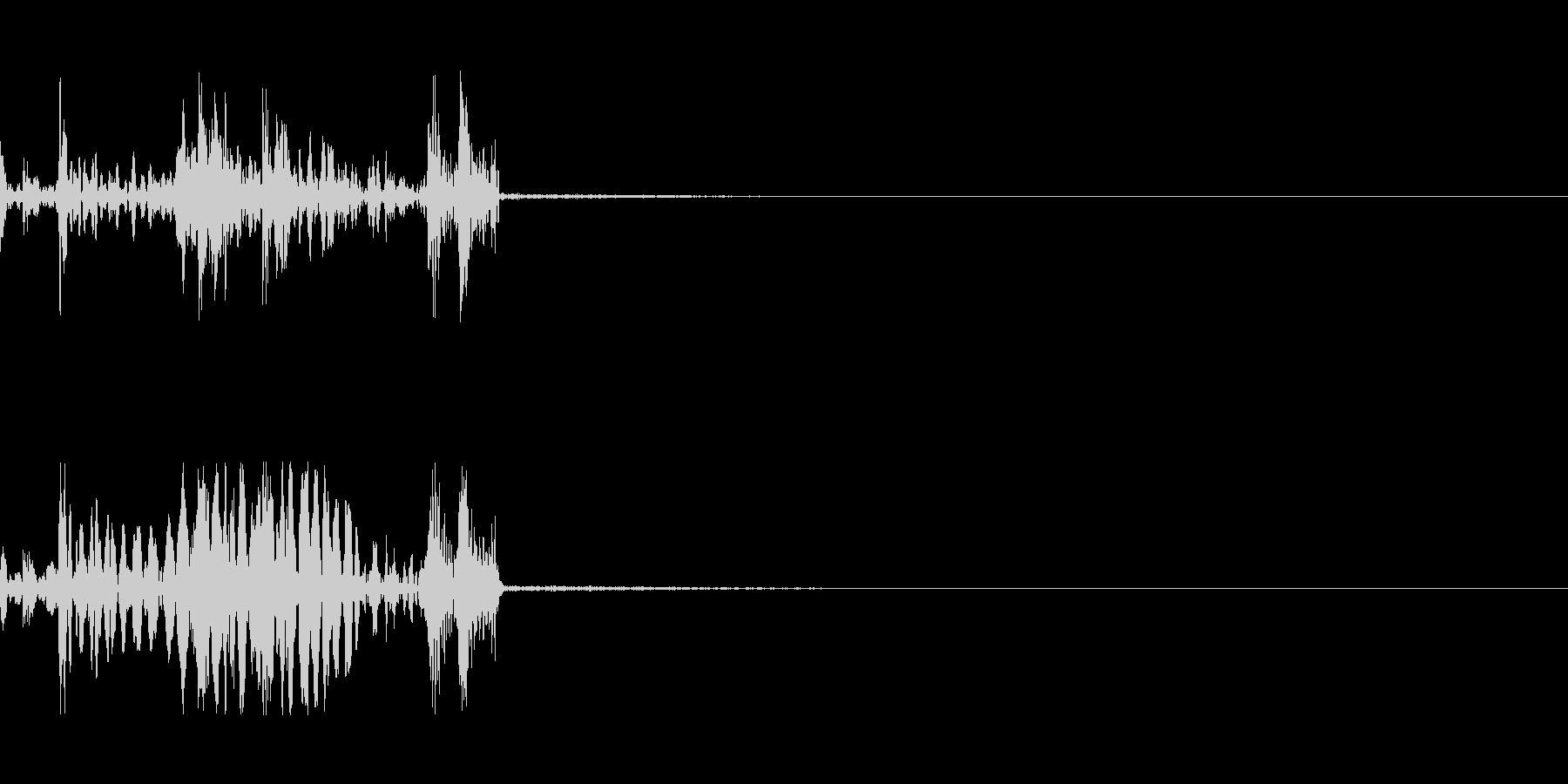 ドアノブの音ですの未再生の波形