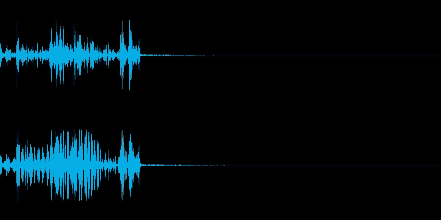 ドアノブの音ですの再生済みの波形