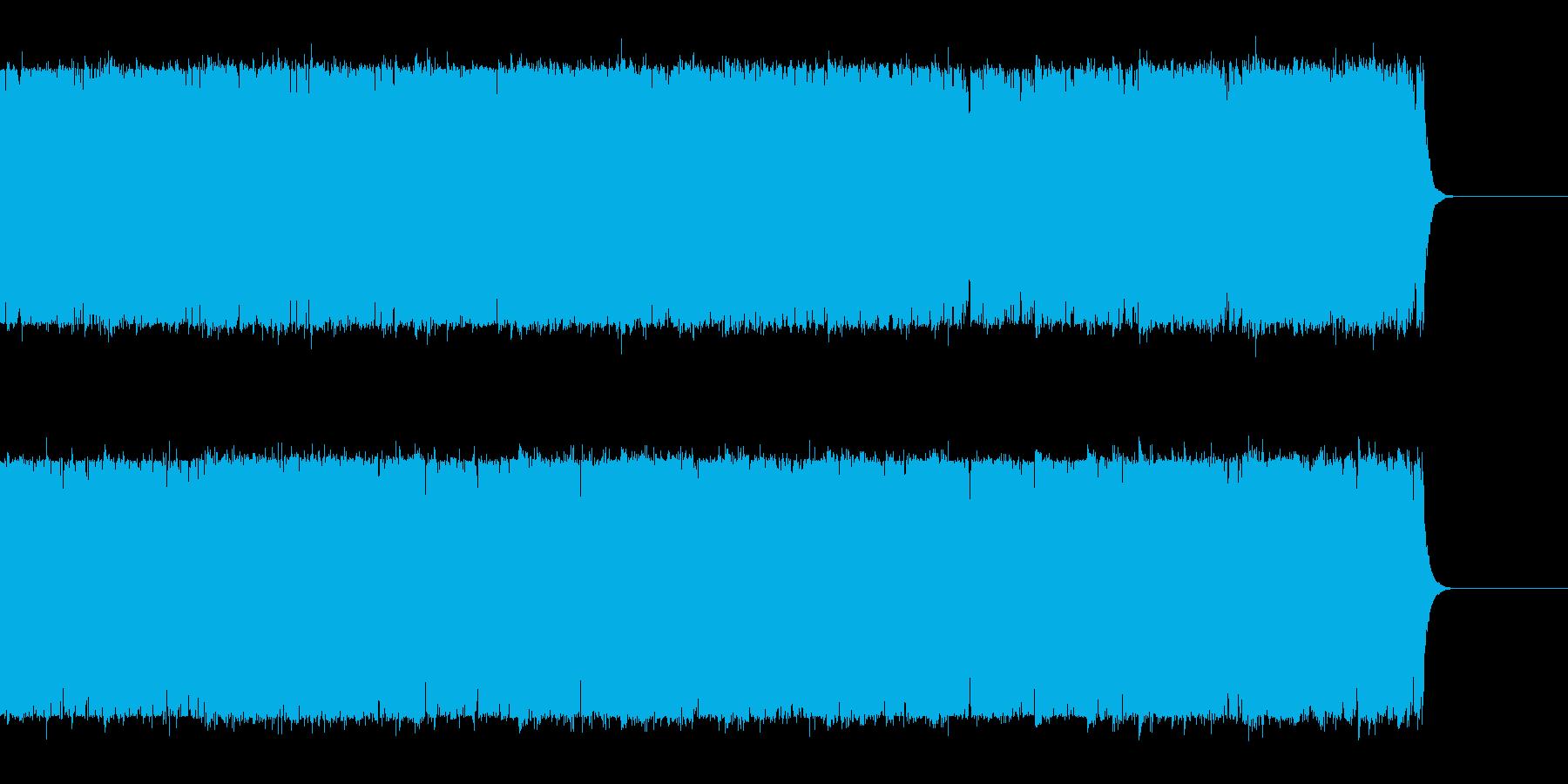 オーロラが絶えず輝く夜の再生済みの波形