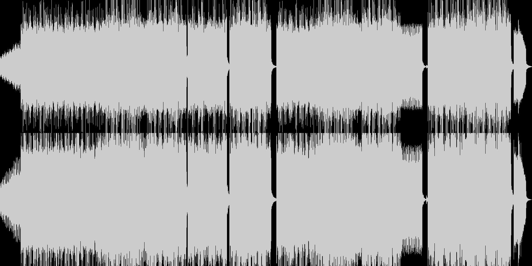 レトロゲームを表現した曲の未再生の波形