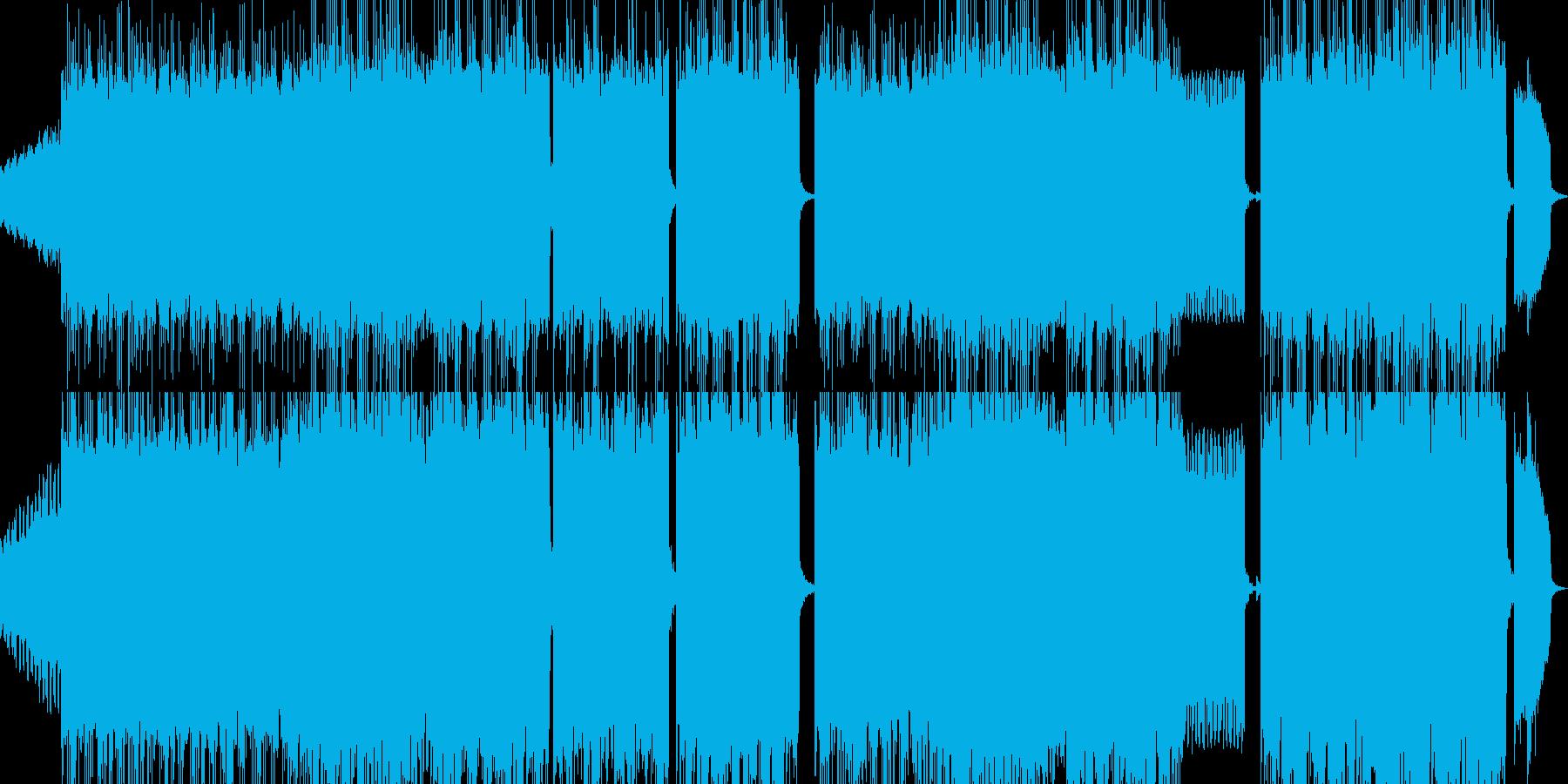 レトロゲームを表現した曲の再生済みの波形