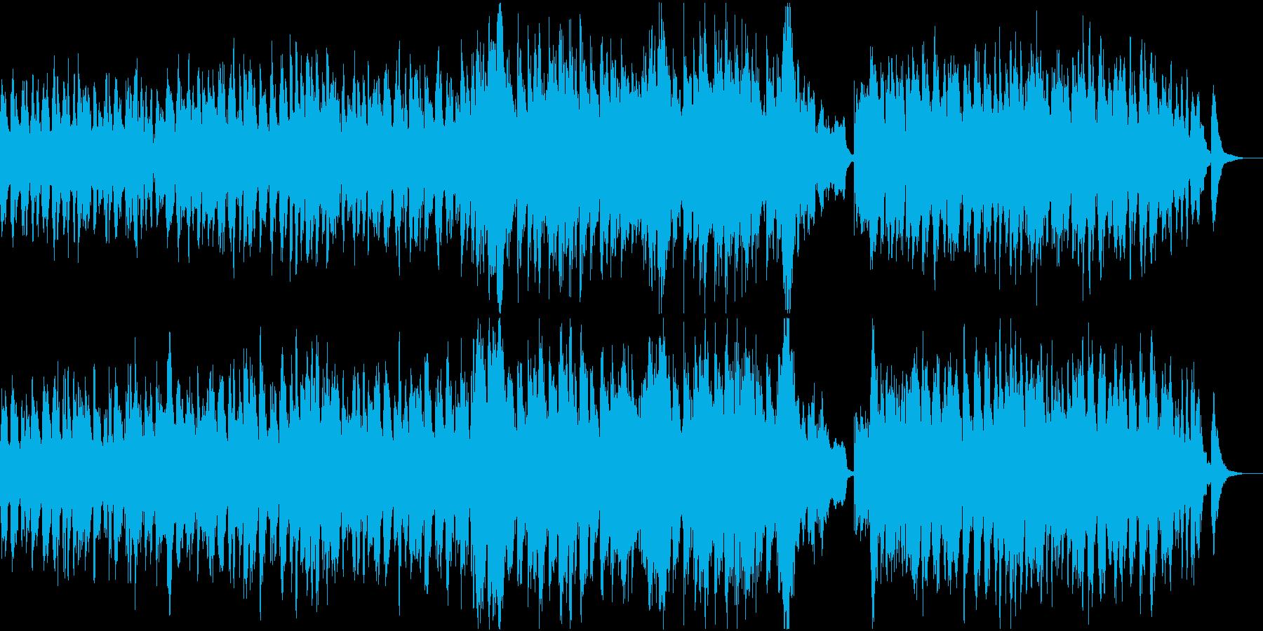 ハロウィンを表現した怪しいオーケストラ曲の再生済みの波形