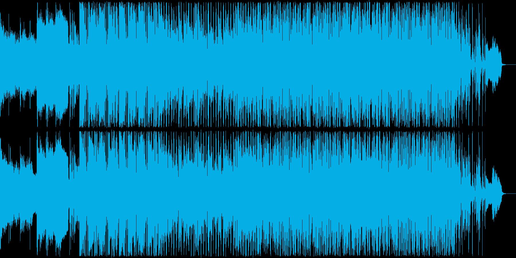 フュージョン調の軽快なBGMの再生済みの波形