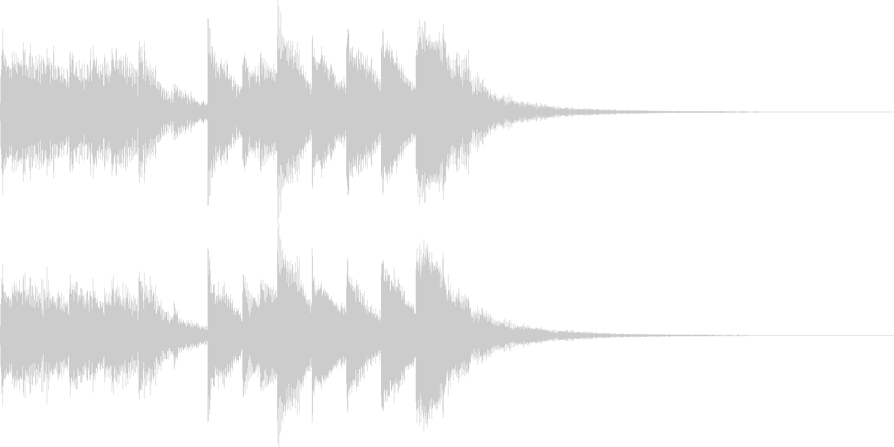 ジングル(ほのぼの・メルヘン・マリンバ)の未再生の波形