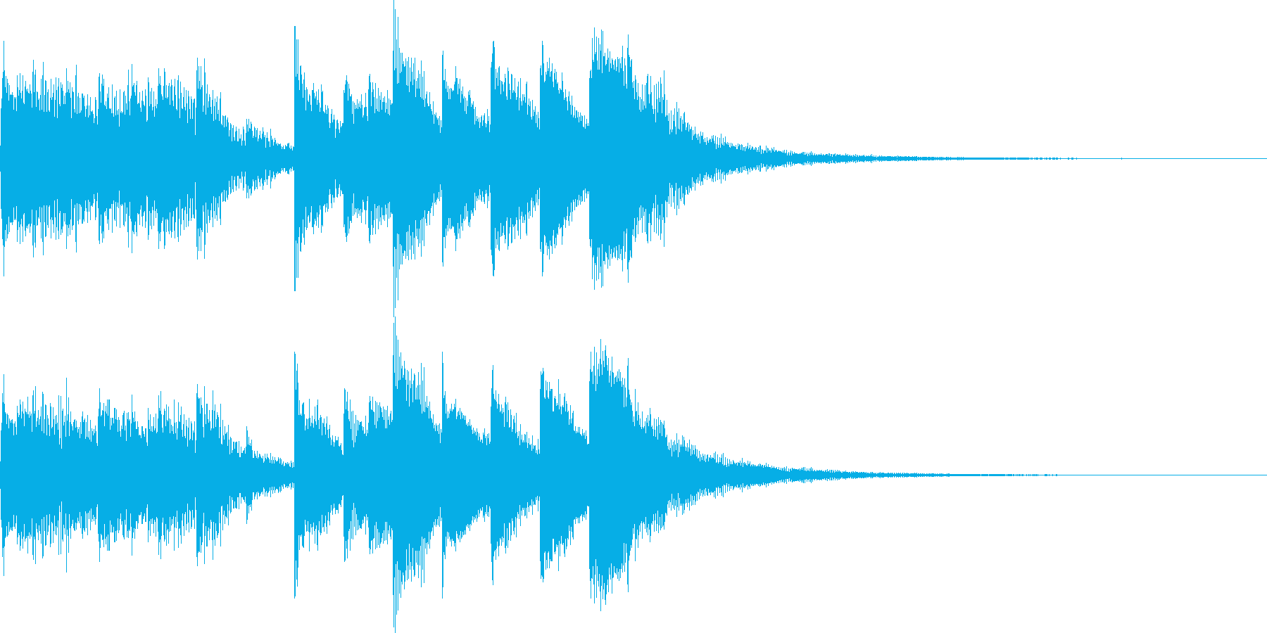 ジングル(ほのぼの・メルヘン・マリンバ)の再生済みの波形