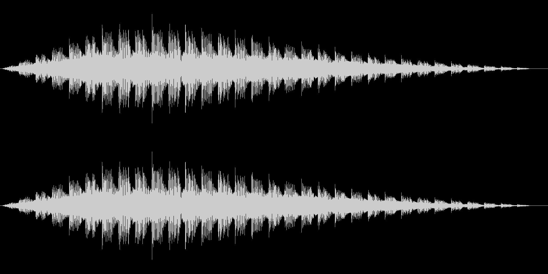 UFO、未確認飛行物体の飛行音_03の未再生の波形