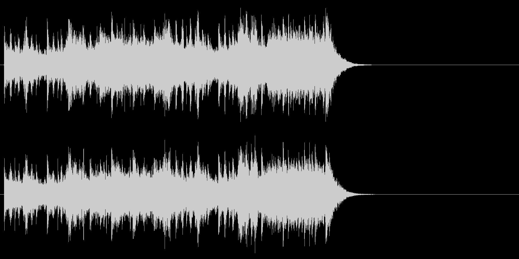 ゆったりしたエンディング(サビ)の未再生の波形