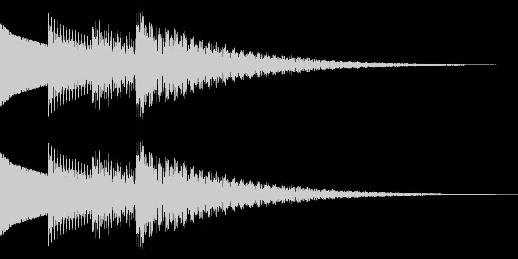 和風、雅な効果音。 ティロリロン~の未再生の波形
