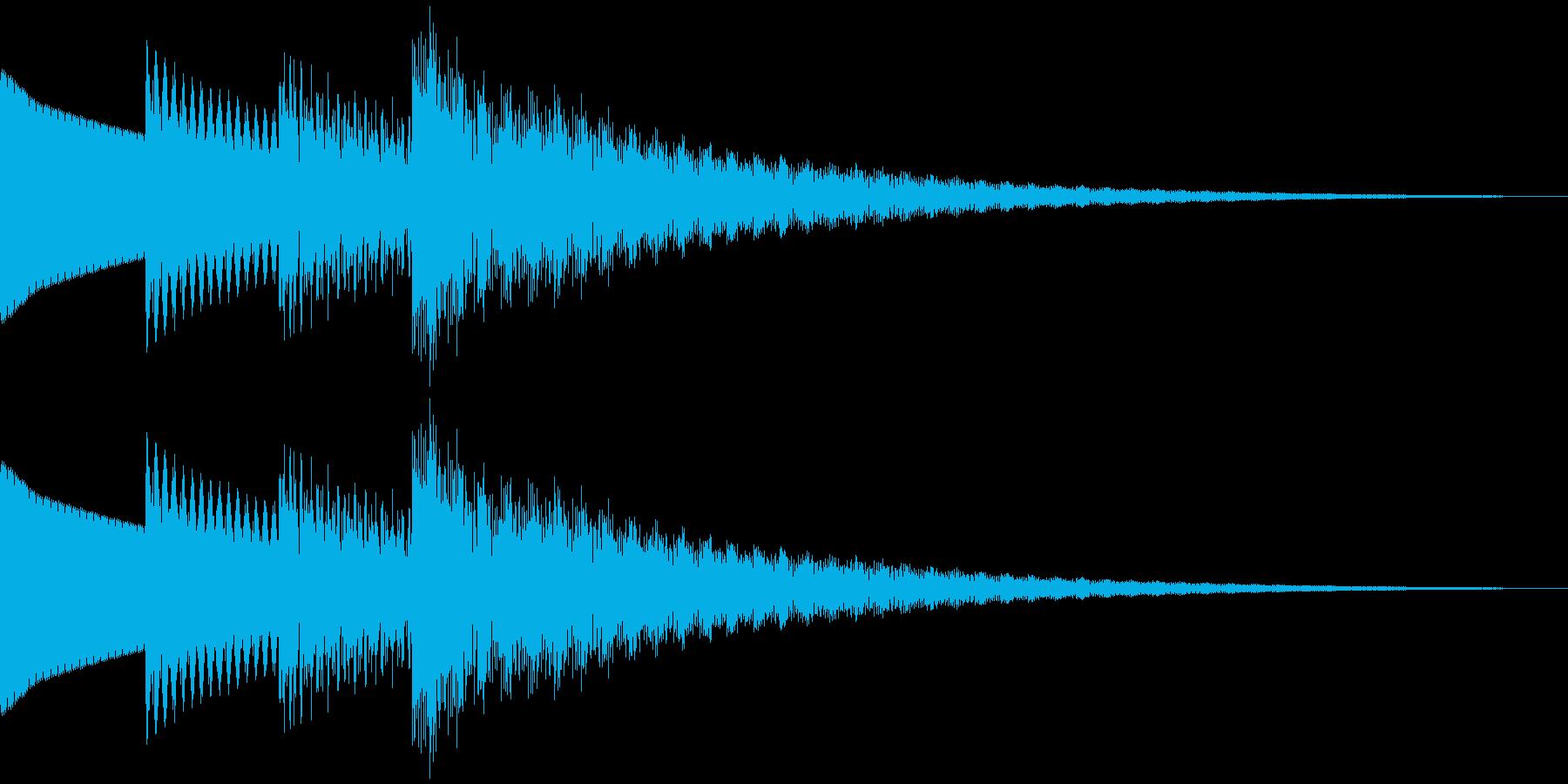 和風、雅な効果音。 ティロリロン~の再生済みの波形
