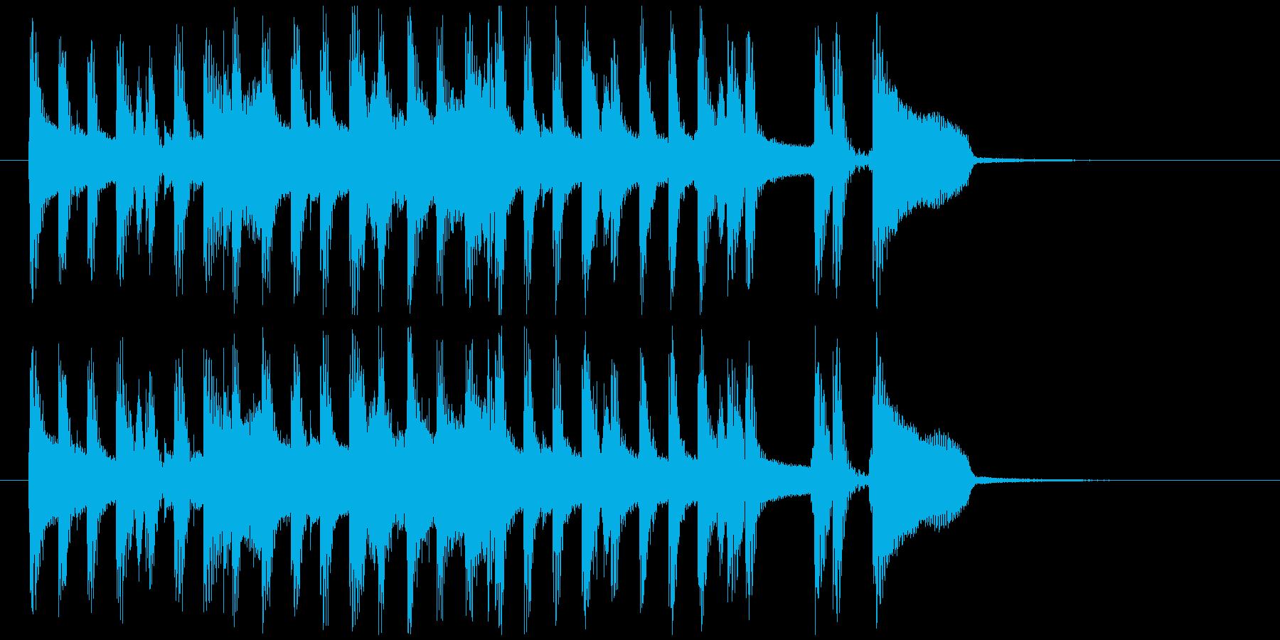 ポップなジャズ調ジングルですの再生済みの波形