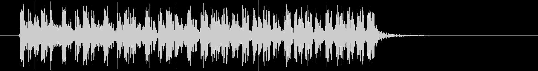スピーディーなリズムが連続するBGMの未再生の波形