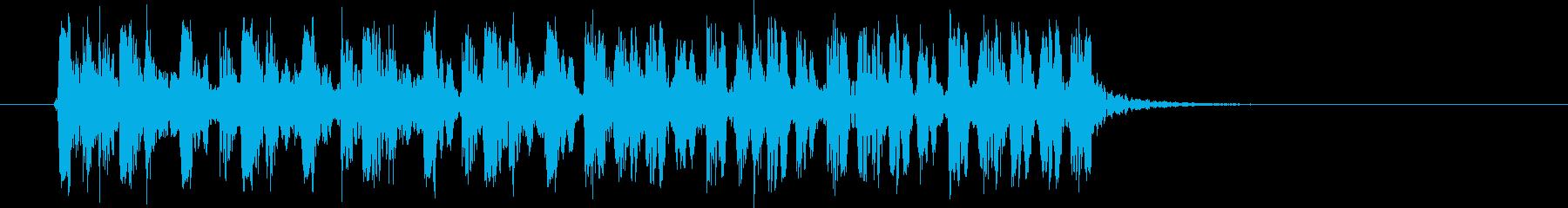 スピーディーなリズムが連続するBGMの再生済みの波形