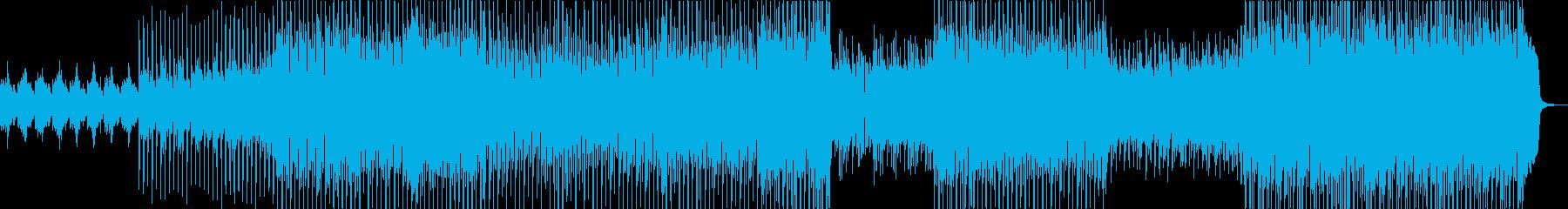 爽やかなシンセ・打楽器・鈴などポップの再生済みの波形