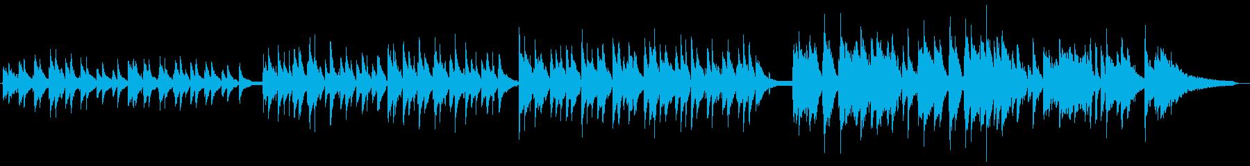 梅雨イメージのピアノとバイオリンによる曲の再生済みの波形