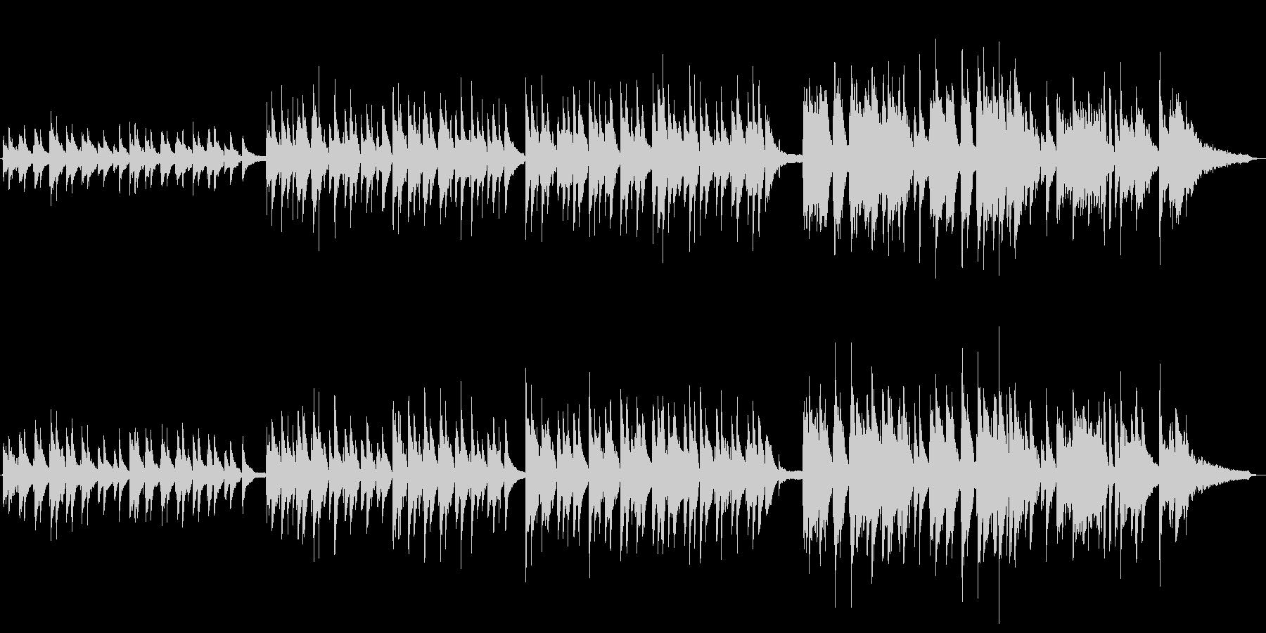 梅雨イメージのピアノとバイオリンによる曲の未再生の波形