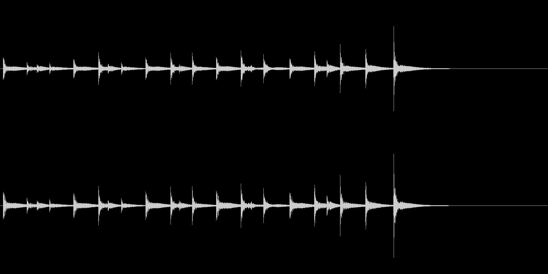 祭囃子や邦楽囃子の豆太鼓のフレーズ音の未再生の波形