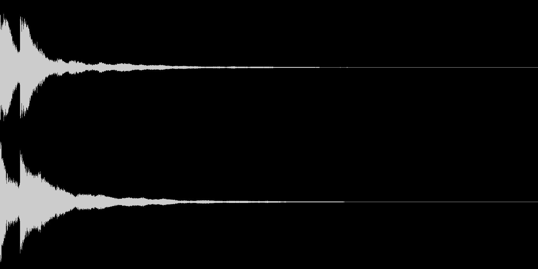 明るいテロップ音 ボタン音 決定音09bの未再生の波形